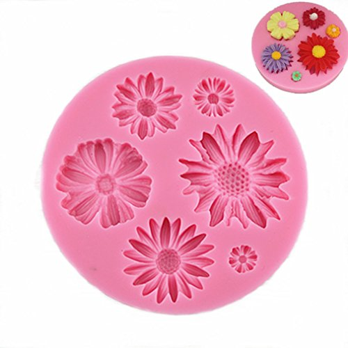 Kisweet Flower Daisy Silicone Molds Chocolate Sugarcraft Can