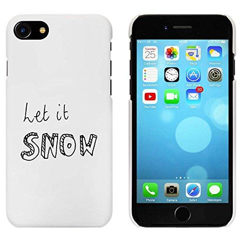 Blanc 'Let It Snow' étui / housse pour iPhone 7 (MC00066914)