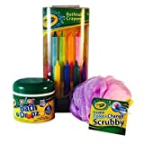 Colour Bath Drops Crayola Bathtub Crayons, Color Drops and Color Changing Scrubby (Bundle of 3 Items)