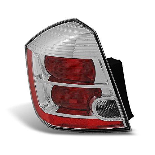 For Nissan Sentra 2.0L Base   S   SL   SR Model Chrome Tail Light Brake Lamp Driver Left Replacement