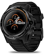 Anself Zeblaze THOR 5 4G LTE Smart Watch Android 7.1.1 2GB+16GB 1.39\ AMOLED Screen 454 * 454 Dual Chips Modes System 8.0MP Camera Smart Wristwatch WiFi BT4.0 Watch (Black)