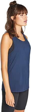Rockwear Activewear Women's Snow Leopard Macrame Back Tank Deep Sea 6 from Size 4-18 for Singlets Tops