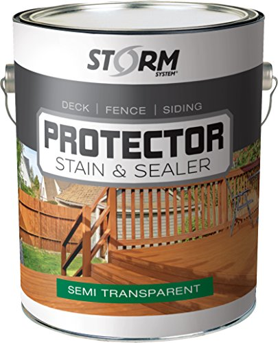 Storm Protector Penetrating Sealer & Stain Protector - Deck Protector, Fence Protector, Mahogany Stain, Redwood Stain, 1 Gallon (Pacific Redwood)