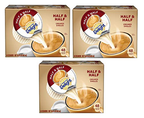 International Delight, Coffee House Inspirations Half and Half, 48 Count (Pack of 4), Single-Serve Coffee Creamers, Shelf Stable, Great for Home Use, Offices, Parties. (3 Cases of 4 Pack (48 Count))