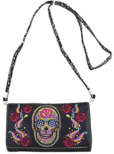wallet black à main Sac Skull Messenger Black à Sac bandoulière 81qzn6H