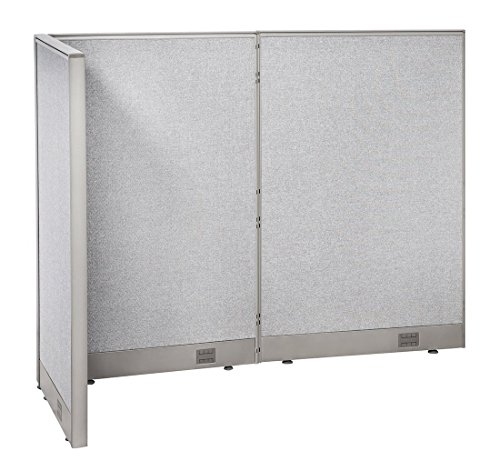 (GOF Freestanding L Shaped Office Partition, Large Fabric Room Divider Panel, 30