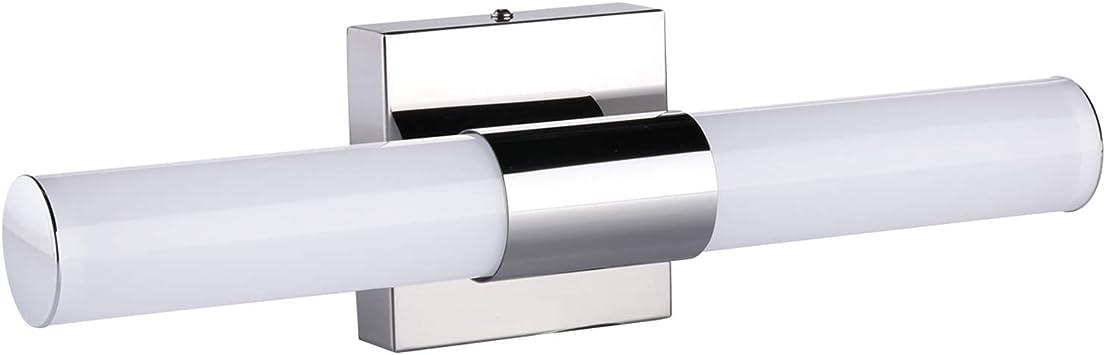 LED Vanity Light OOWOLF 9W 17.3 Inch IP44 Waterproof Bathroom Vanity Light Fixtures 6000K 1200LM Wall Lamp LED Mirror Front Light Cool White