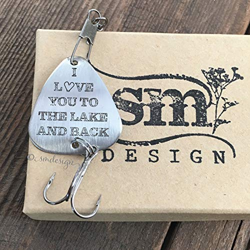 I Love You To The Lake And Back Fishing Lure- Anniversary Gift For Him Men