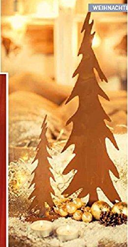 Rostiger Tannenbaum.Rostiger Tannenbaum Auf Platte 30cm Amazon De Küche Haushalt