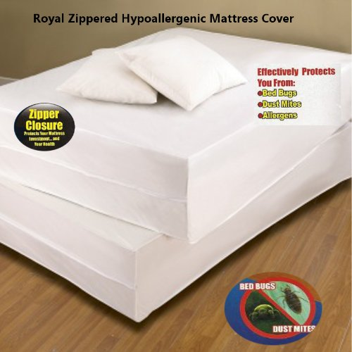 Futon bed bug cover roselawnlutheran for Sofa bed zippered mattress cover