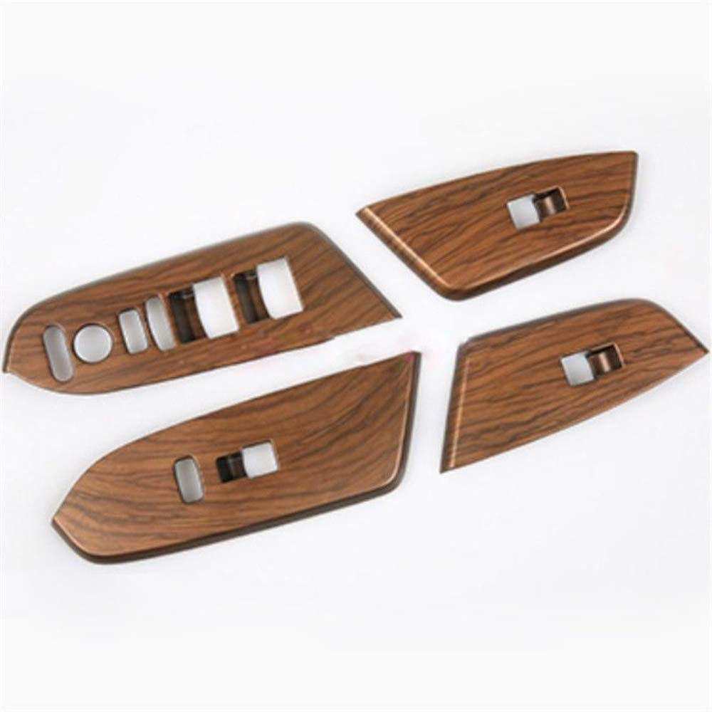 SWITCHDOCTOR Wood Grain Panel Window Switch Cover Set for Honda CRV 2017-2019