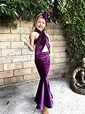Selena Costume Purple Velvet outfit Girls Size
