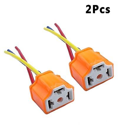 amazon com: zyhw 2 x h4 9003 ceramic wire wiring harness sockets for car  headlight: automotive