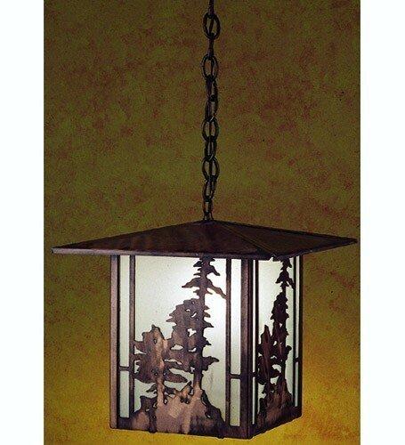 Meyda Lighting 29273 12''Sq Tall Pines Lantern Pendant