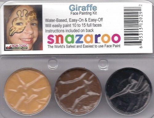 amazon com snazaroo giraffe face paint kit toys games