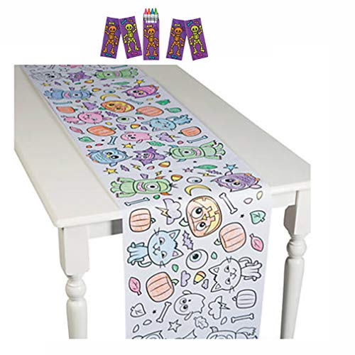 Halloween Coloring Papers (Halloween Coloring Tablecloth Halloween Activities for Kids Paper Coloring Table Runner With 20)