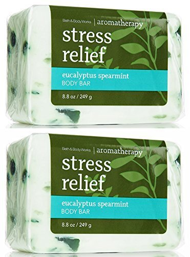 (Bath & Body Works Aromatherapy Stress Relief  Eucalyptus Spearmint Body Bar,  2 Pack)