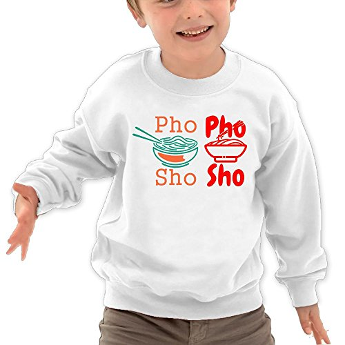 Price comparison product image Puppylol Phosho Kids Classic Crew-Neck Pullover Hoodie White 5-6 Toddler