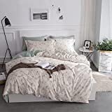 3pc Cotton Bedding Set Reversible Duvet Cover & Pillow Sham Twin Floral Deal