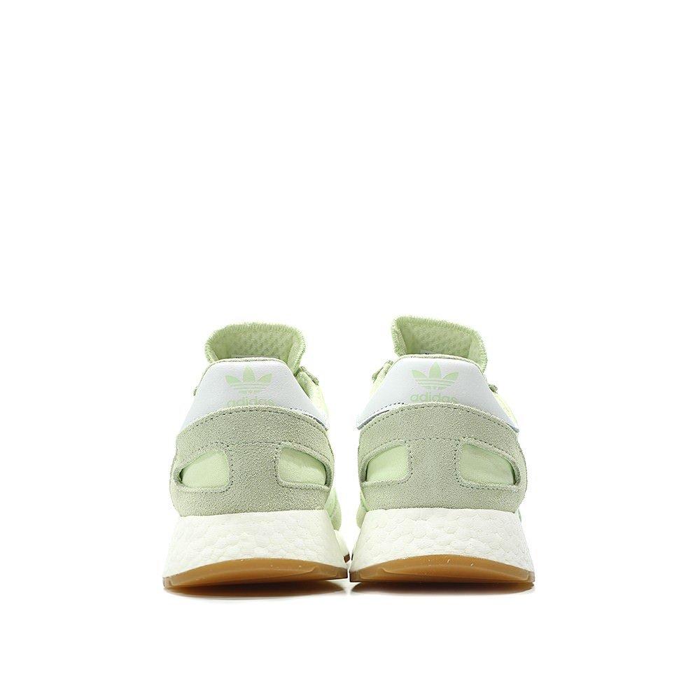 adidas Iniki Women's Off-White Sneakers B078TQZTDV 5.5 M US Green / White