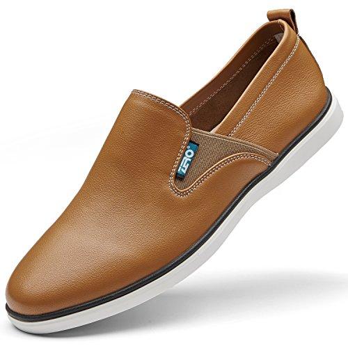Glisser Occasionnels Hommes Pour Mode Chaussures Zro Marche Marron Mocassin La Sur De zqYYng1