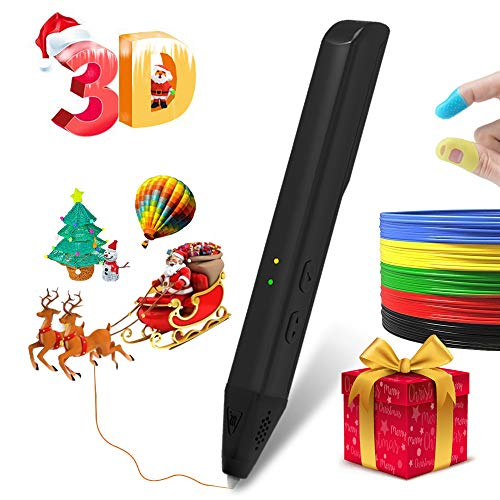 3D Pen,3D Drawing Printing Pen,3D Printing Pens Kit with 4 Bonus PLA 1.75mm Filament Refills for Crafting, DIY&Design(Black)