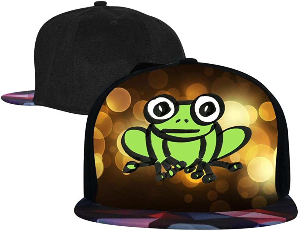 Adjustable Hip Hop Flat-Mouthed Baseball Caps EUYK77 Froggy Mens and Womens Trucker Hats