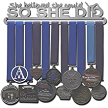 Allied Medal Hangers - She Believed She Could So She Did - Gymnast Figure - Multiple Size Options Available!