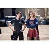 Supergirl Chyler Leigh as Alex and Melissa Benoist as Kara Danvers in Supergirl Outfit Faded Background 8 x 10 inch photo