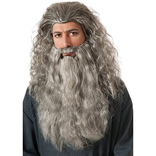 Gandalf The White Costume (Gandalf Wig and Beard Kit Costume Accessory)