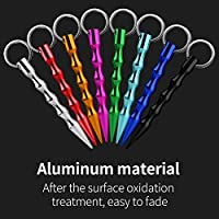Amazon Com Jhua Self Defense Keychain Solid Aluminum Anti Wolf Tactical Pen With Keyring Gift For Women Grirls Teens Men 8 Packs Multicolor Safe Self Defense Pen Sports Outdoors