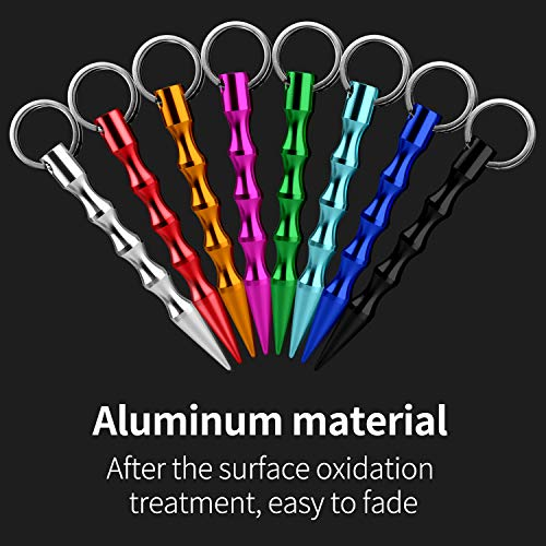 Jhua Self Defense Tools Solid Aluminum Anti-Wolf Tactical Pen, Gift for Women Grirls Teens Men, 8 Packs Multicolor Safe Self Defense Pen