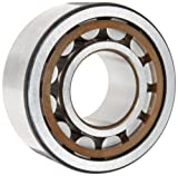 SKF NU 205 ECP/C3 Cylindrical Roller Bearing, Single Row, Removable Inner Ring, Straight Bore, High Capacity, C3 Clearance, Polyamide/Nylon Cage, Metric, 25mm Bore, 52mm OD, 15mm Width