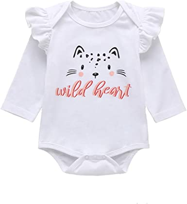 Cute Newborn Kids Baby Boy Girl Clothes Printed Romper Bodysuit Outfit Sunsuit