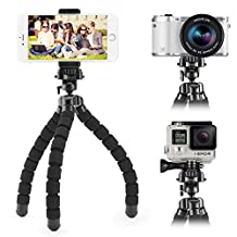 iKross Portable Flexible Tripod with Phone Holder and GorPo Adapter for Digital Camera, Camcorder, Gopro HERO, iPhone, Smartphone