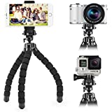 Smartphone Flexible Tripod iKross Compact Tripod Stand Mount Holder with Adapters For Smartphone, iPhone / Digital Camera / GoPro Hero All Version