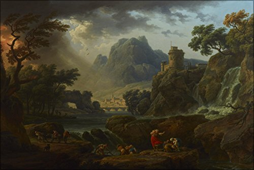 20x30 Poster; A Mountain Landscape With An Approaching Storm By Claude Joseph Vernet