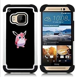 GIFT CHOICE / Defensor Cubierta de protección completa Flexible TPU Silicona + Duro PC Estuche protector Cáscara Funda Caso / Combo Case for HTC ONE M9 // Poke Monster Pink Cute //