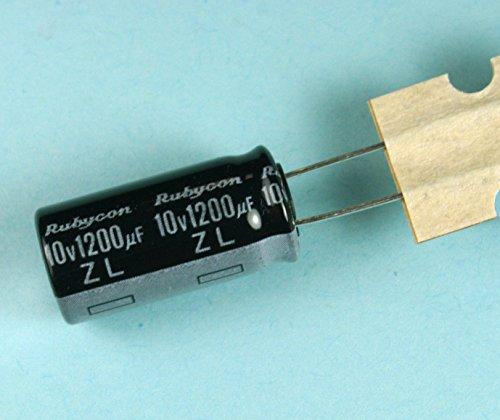 (A #622) 8pcs Rubycon ZL 1200uF 10v 105C Radial Electrolytic Capacitor Low ESR