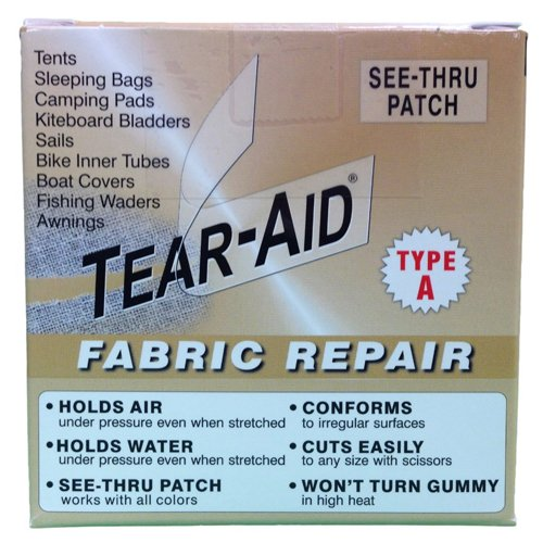 (Tear-Aid Repair Type A Fabric Repair Kit (2 Pack), 3 x 5')