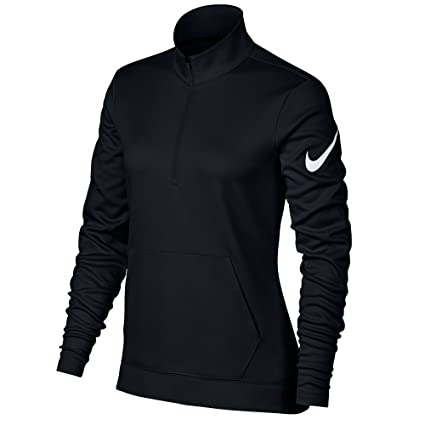 9cafcb466ca0 NIKE Therma Fit Half Zip Fleece Golf Jacket 2017 Women Black White Large