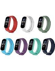 KOMI Colorful Wrist Strap Bracelet Replacement for Xiaomi mi Band 5 Wristbands (A-7pcs)
