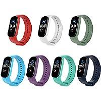 KOMI Horloge Strap compatibel met Xiaomi mi Band 5, Vrouwen Mannen Siliconen Sport Vervanging Band Fitness Armband (C-7…