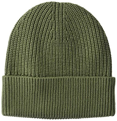 - Goodthreads Men's Soft Cotton Washed Beanie, Solid Olive, one Size