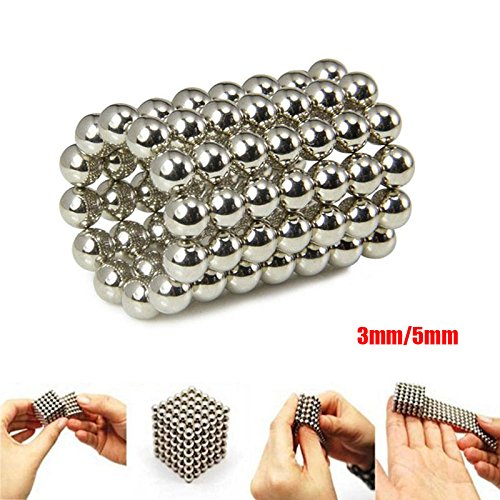 Tiptiper Magnetic Ball, 3mm 216Pcs/Box Magnet Balls Square 3D Puzzle Children Developmental Toy