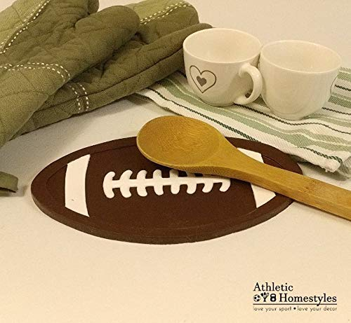 Football Trivet - Non-slip silicone hot pad - spoon rest - Football Hot Pad