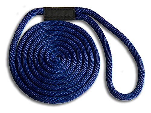 MadDogProducts Double Braid Nylon Dock Line - Navy, 3/8