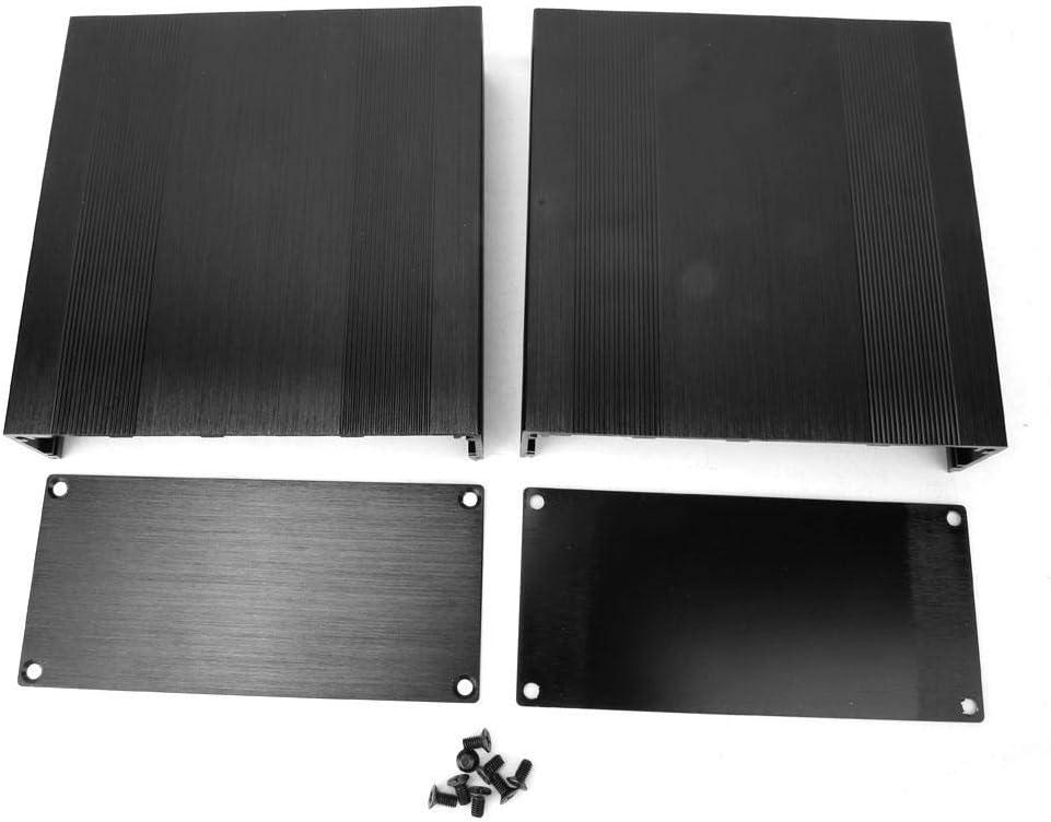 Scatola di Progetto Elettronica in Alluminio Custodia in Alluminio Nero Fai-da-Te Custodia in Alluminio Spazzolato Tipo Split ossido Nero Spazzolato o Amplificatore GPS 150 Millimetri