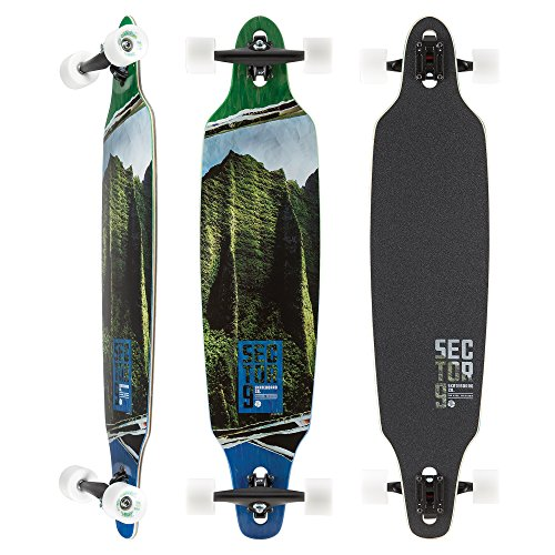 Sector Charger 9 (Sector 9 - Vista Maple Lookout 41 Inch Maple Drop Through Longboard for Carving, Commuting, and Freeride)