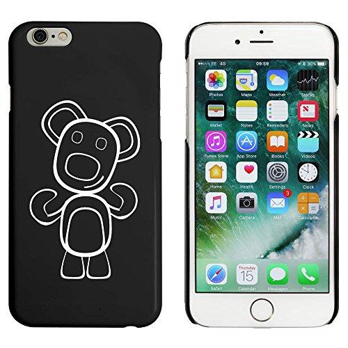 Schwarz 'Glücklicher Teddybär' Hülle für iPhone 6 u. 6s (MC00035973)